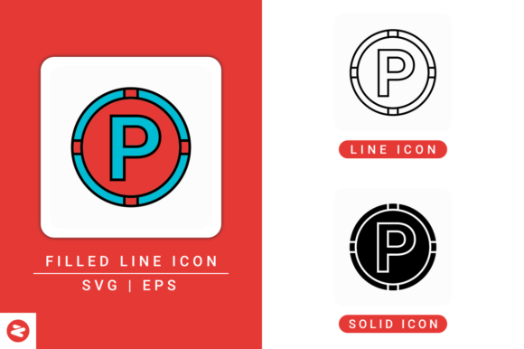 Download Free Park Sign Icons Set Graphic By Zenorman03 Creative Fabrica for Cricut Explore, Silhouette and other cutting machines.