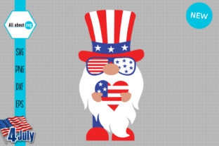 Print on Demand: Patriotic Gnome Graphic Crafts By All About Svg
