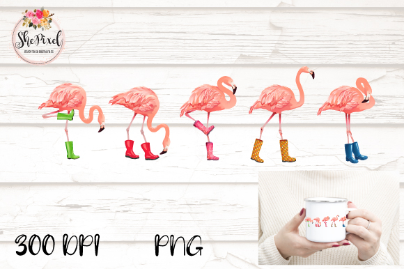 Download Free Pink Flamingo Bird Summer Clipart Grafico Por Shepixel SVG Cut Files