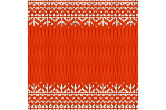 Red Seamless Knitted Pattern Graphic Illustrations By Agor2012