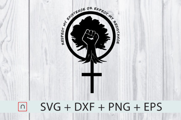 Download Free Respect Existence Resistance Cross Fist Graphic By Novalia for Cricut Explore, Silhouette and other cutting machines.