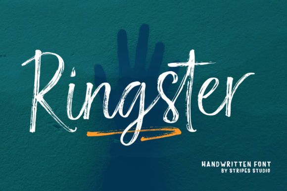 Print on Demand: Ringster Script & Handwritten Font By Stripes Studio