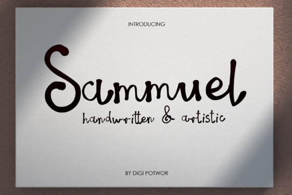 Download Free Sammuel Font By Digi Potwor Creative Fabrica for Cricut Explore, Silhouette and other cutting machines.