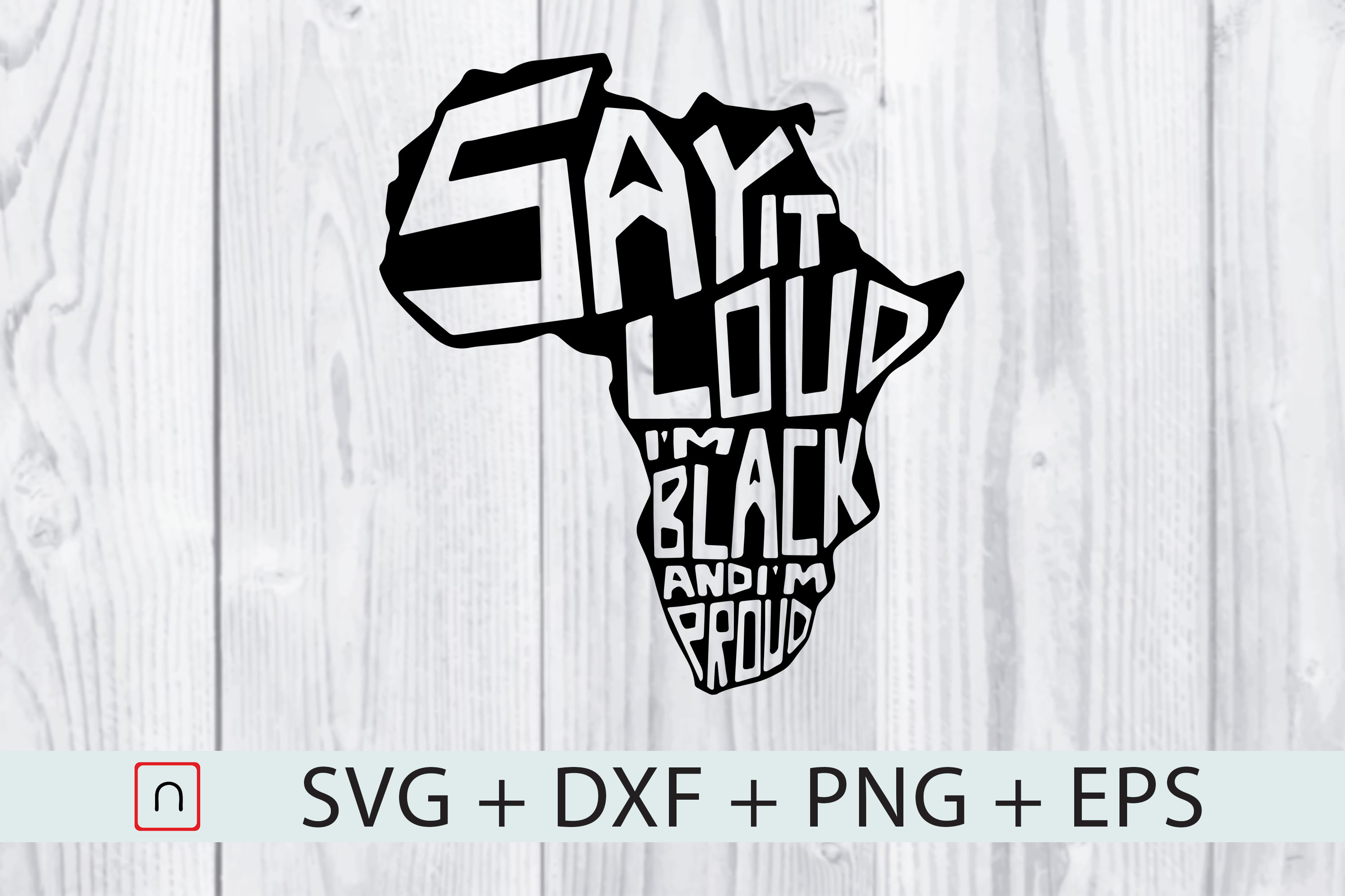 Download Free Say It Loud I M Black And I M Proud Graphic By Novalia for Cricut Explore, Silhouette and other cutting machines.