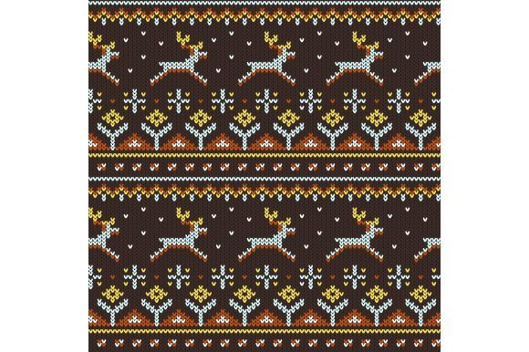 Seamless Knitted Sweater Pattern Graphic Illustrations By Agor2012