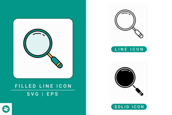 Print on Demand: Search Icons Set Graphic Icons By zenorman03