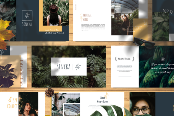 Sincka – Keynote Template Graphic Free Download