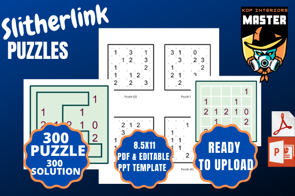 Download Free Slitherlink 300 Puzzles And Solutions Graphic By for Cricut Explore, Silhouette and other cutting machines.