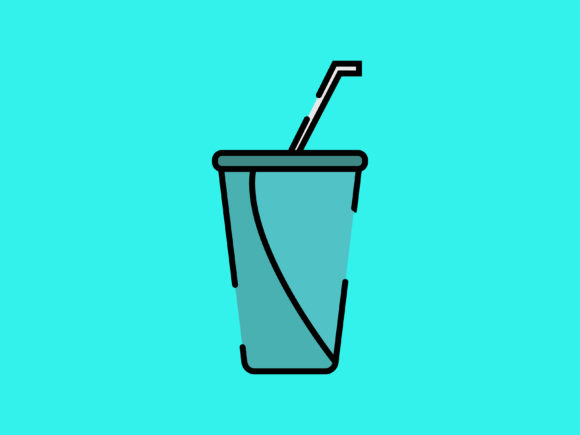 Download Free Soft Drink Icon Full Color Striped Line Graphic By Meandmydate for Cricut Explore, Silhouette and other cutting machines.