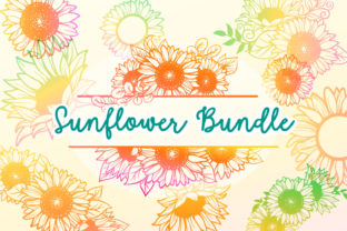 Print on Demand: Sunflower Bundle - 17 Cut Files Graphic Crafts By tatiana.cociorva