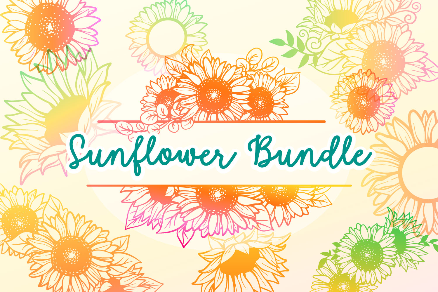 Download Free Sunflower Bundle 17 Cut Files Graphic By Tatiana Cociorva for Cricut Explore, Silhouette and other cutting machines.