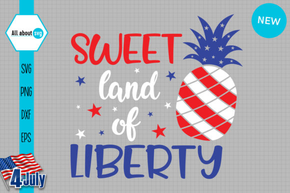 Download Free Sweett Land Of Liberty Graphic By All About Svg Creative Fabrica for Cricut Explore, Silhouette and other cutting machines.