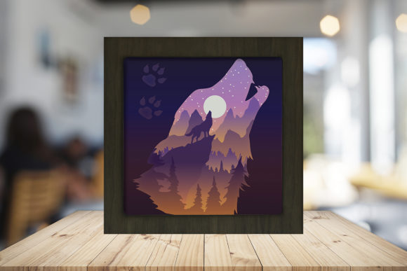 Print on Demand: The Call of the Wild Shadow Box Graphic 3D Shadow Box By LightBoxGoodMan