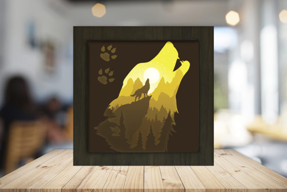 The Call of the Wild Shadow Box Graphic 3D Shadow Box By LightBoxGoodMan - Image 2