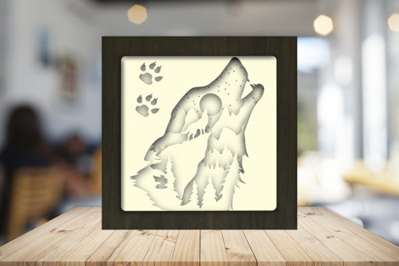 Download Free The Call Of The Wild Shadow Box Graphic By Lightboxgoodman for Cricut Explore, Silhouette and other cutting machines.
