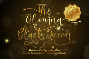 Print on Demand: The Glowing Black Queen Script & Handwritten Font By Asd Studio