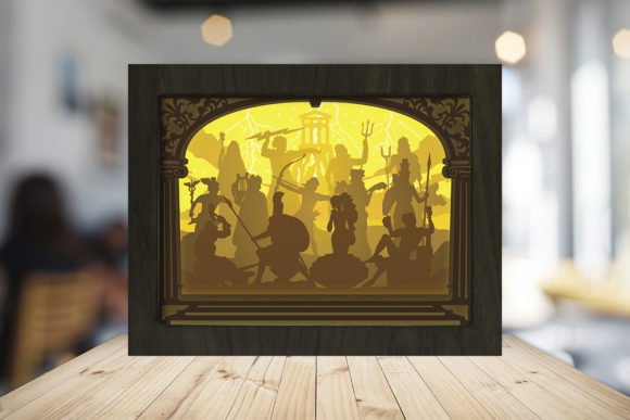 The Olympian Gods Shadow Box Graphic Download