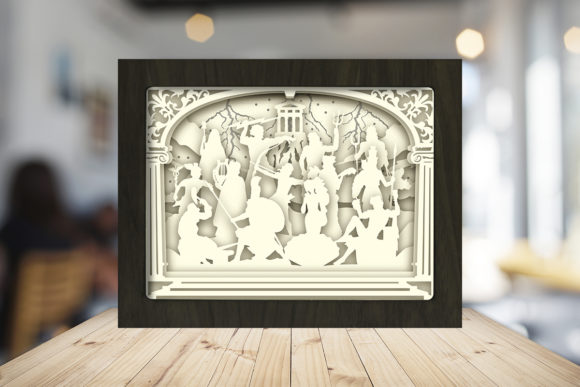 The Olympian Gods Shadow Box Graphic Item