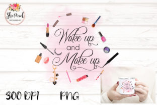 Print on Demand: Wake Up and Make Up Watercolor Clipart Graphic Illustrations By FunFair Designs