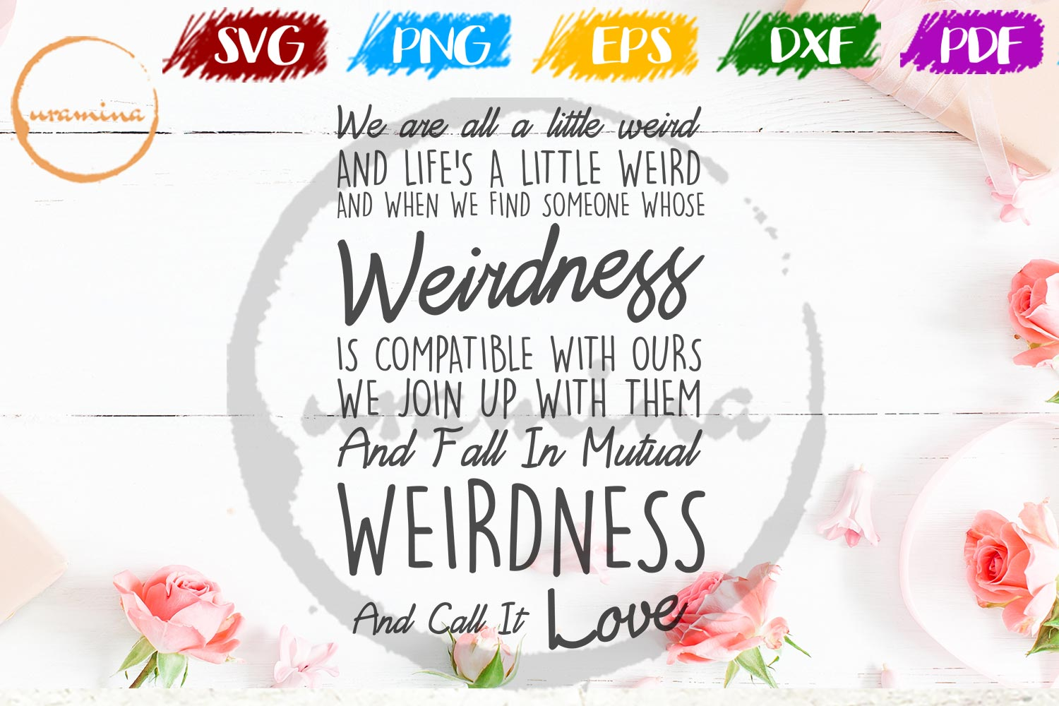 Download Free We Are All A Little Weird Graphic By Uramina Creative Fabrica for Cricut Explore, Silhouette and other cutting machines.