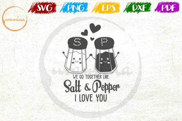 Download Free We Go Together Like Salt And Pepper Graphic By Uramina for Cricut Explore, Silhouette and other cutting machines.