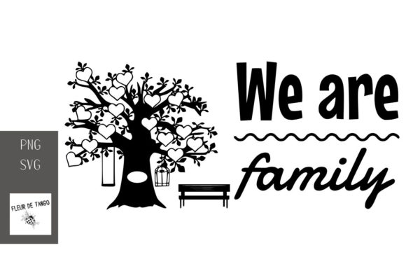 Download Free We Are Family Graphic By Fleur De Tango Creative Fabrica for Cricut Explore, Silhouette and other cutting machines.