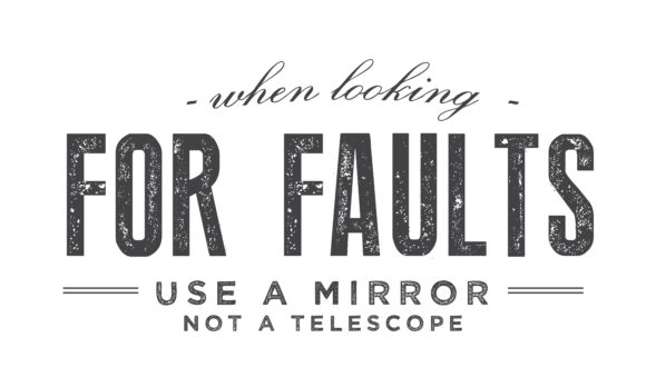 Print on Demand: When Looking for Faults Use a Mirror Graphic Illustrations By baraeiji