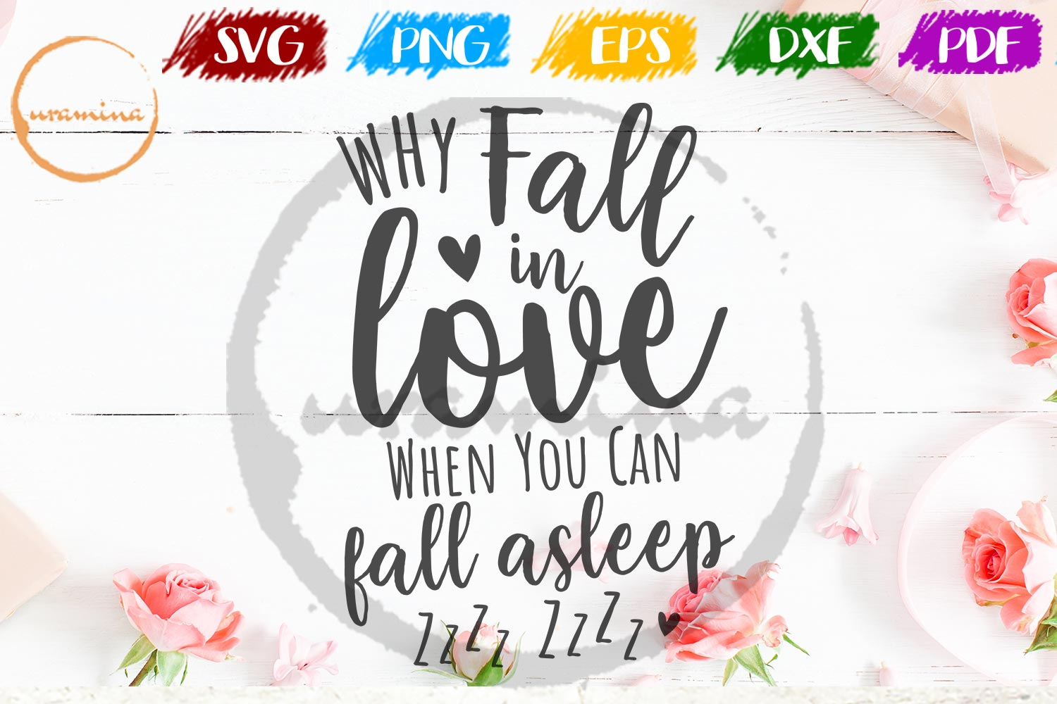 Download Free Why Fall In Love When You Can Fall Graphic By Uramina Creative for Cricut Explore, Silhouette and other cutting machines.