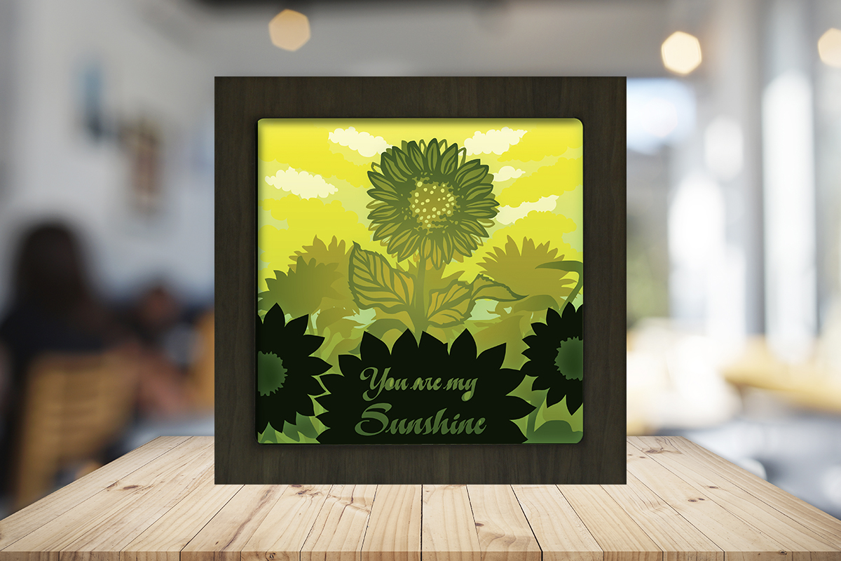 Download Free You Are My Sunshine Light Box Shadow Box Graphic By Lightboxgoodman Creative Fabrica for Cricut Explore, Silhouette and other cutting machines.