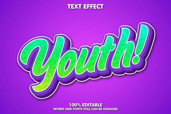 Download Free Youth Style Font Effect Graphic By Memetxsaputra Creative Fabrica for Cricut Explore, Silhouette and other cutting machines.