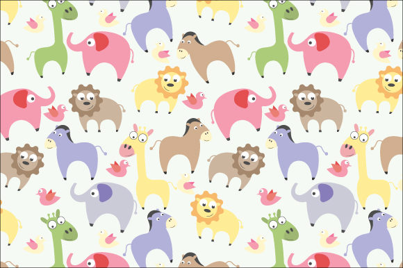 Print on Demand: Adorable Animal Collection Pattern Graphic Patterns By curutdesign