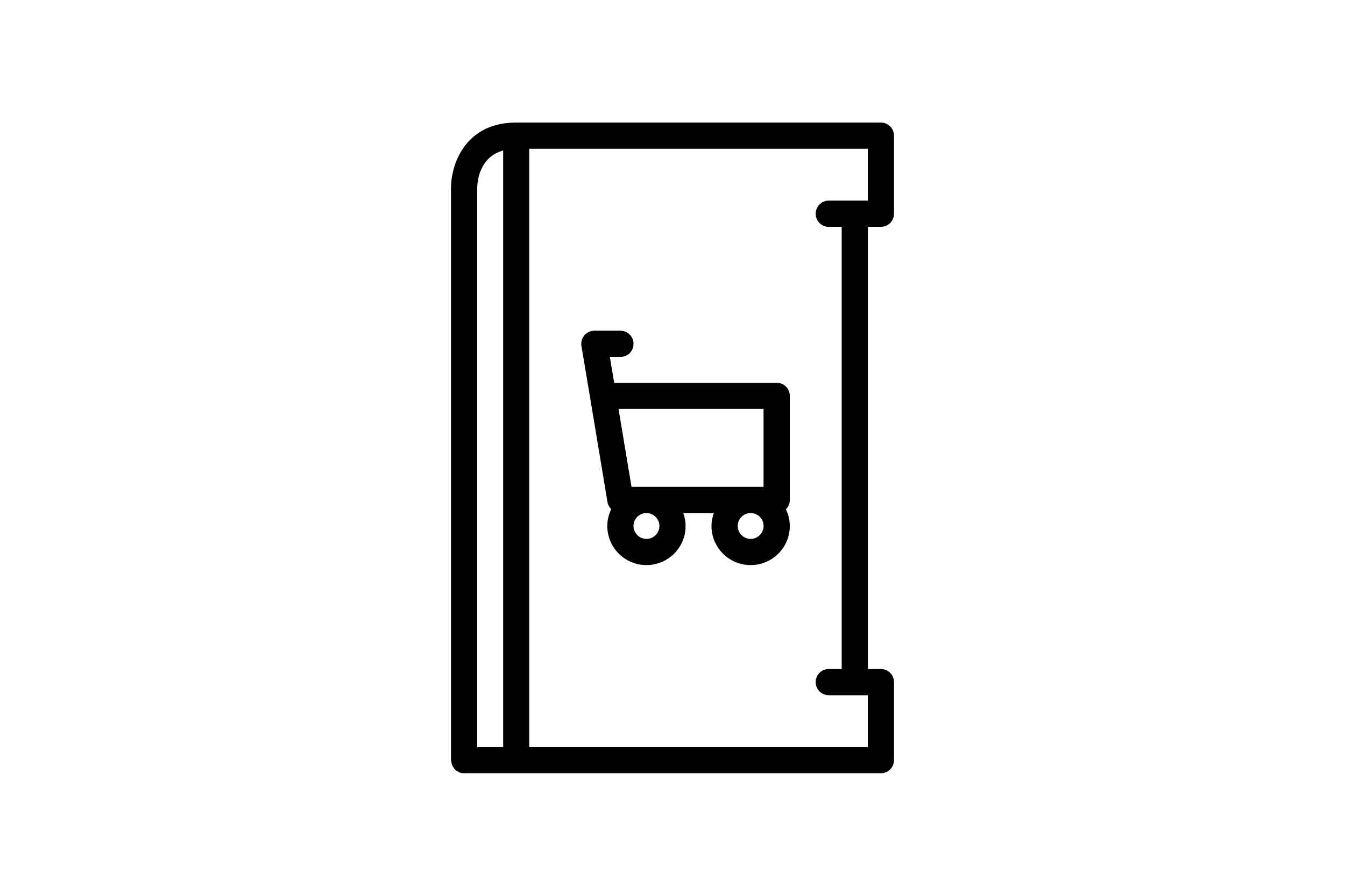 Download Free Cart Black And White Icon Graphic By Glyph Faisalovers for Cricut Explore, Silhouette and other cutting machines.