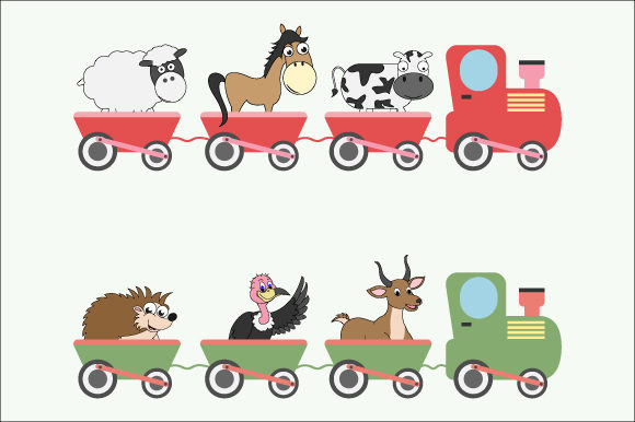 Download Free Cute Animal In The Train Graphic By Curutdesign Creative Fabrica for Cricut Explore, Silhouette and other cutting machines.