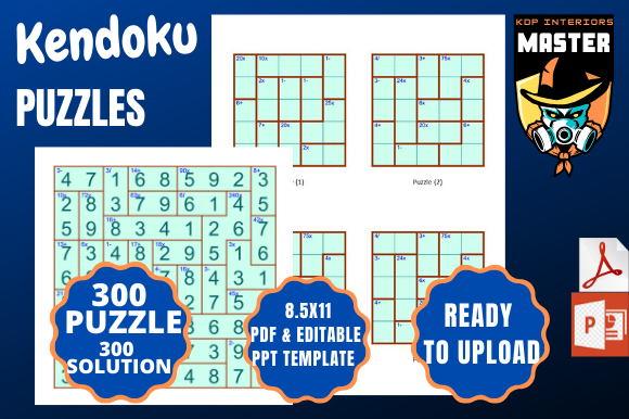 Print on Demand: Kendoku  [300 Puzzles and Solutions] Graphic KDP Interiors By KDP_Interiors_Master