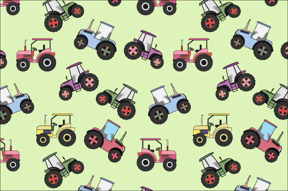 Print on Demand: Tractor Pattern Graphic Patterns By curutdesign