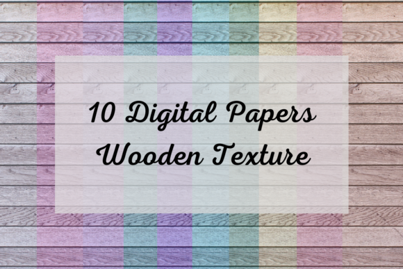 10 Digital Papers Colored Wood Graphic Backgrounds By MadeByMajenica