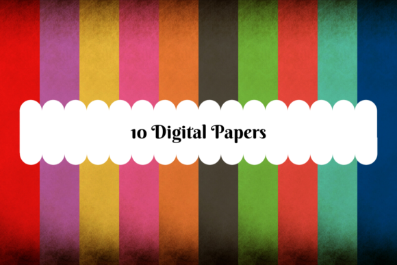 10 Digital Papers, Paper Edging Style Graphic Backgrounds By MadeByMajenica