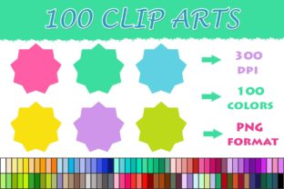 100 Shapes Clip Art--08 Graphic Illustrations By SweetDesign