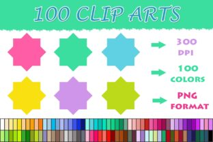 100 Shapes Clip Art--07 Graphic Illustrations By SweetDesign
