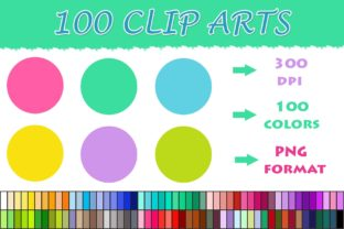 100 Circle Clip Art Graphic Illustrations By SweetDesign