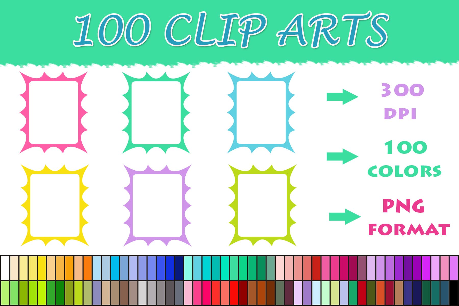 Download Free 100 Frame Borders Clip Art Graphic By Sweetdesign Creative Fabrica for Cricut Explore, Silhouette and other cutting machines.