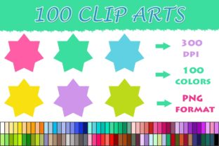 100 Stars Clip Art,colorful Stars Graphic Illustrations By SweetDesign