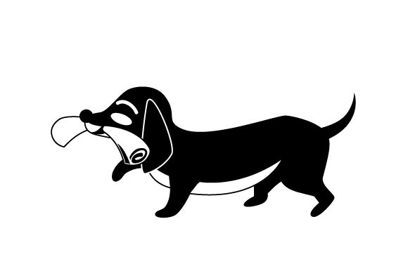 Download Free Dachshund Holding Newspaper Svg Cut File By Creative Fabrica for Cricut Explore, Silhouette and other cutting machines.
