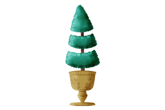 Topiary Tree in Urn Nature & Outdoors Craft Cut File By Creative Fabrica Crafts