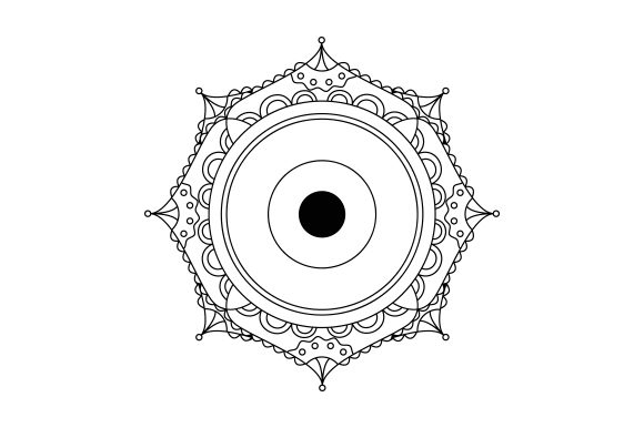 Download Free Evil Eye Mandala Svg Cut File By Creative Fabrica Crafts for Cricut Explore, Silhouette and other cutting machines.