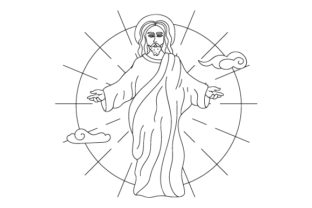 Jesus Coloring Page Religious Craft Cut File By Creative Fabrica Crafts