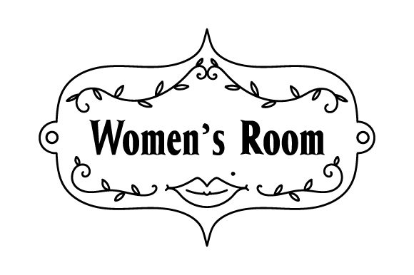 Download Free Vintage Women S Room Sign Svg Cut File By Creative Fabrica for Cricut Explore, Silhouette and other cutting machines.