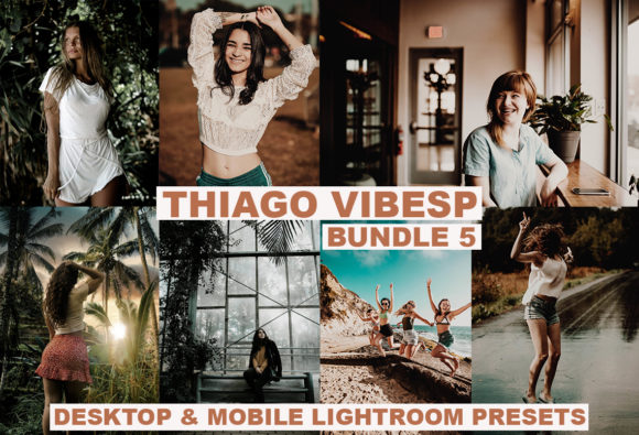 20 Cinematic Desktop & Mobile Lightroom Graphic Actions & Presets By Thiago Vibesp Creative