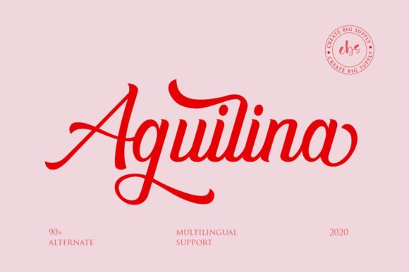 Print on Demand: Aguilina Script & Handwritten Font By Create Big Supply