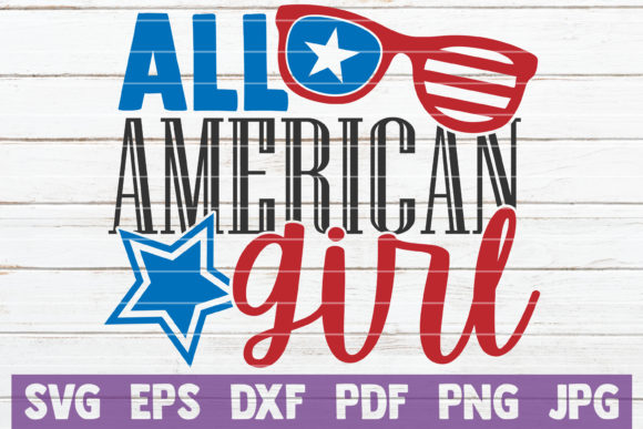 All American Girl Graphic Crafts By MintyMarshmallows